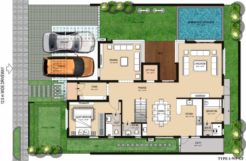 Luxury bloom Villa floor plans india
