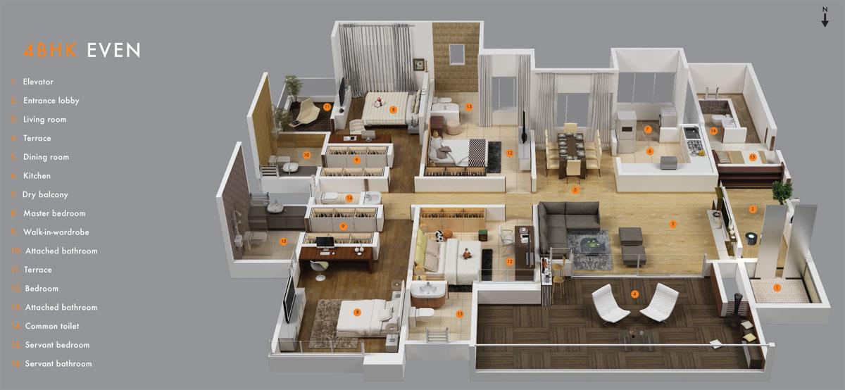 Buy luxury homes for Floor plan for 4bhk house