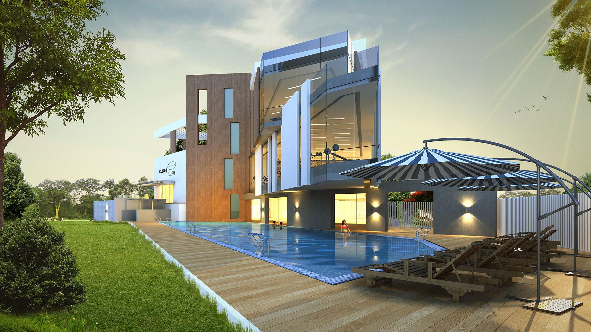 4 bhk villas for sale in hyderabad aparna elixir for Villa interior design in hyderabad